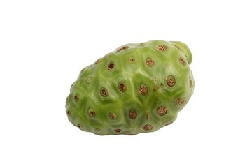 Noni fruit contains natural compounds with medicinal properties.