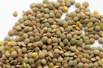 Brown lentils are commonly used in soups.