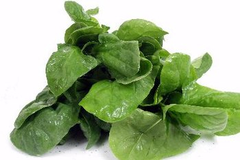Spinach is high in iron.