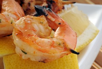 Shrimp adds some sodium to your diet.