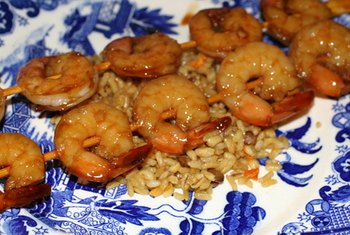 Shrimp have a high protein content.