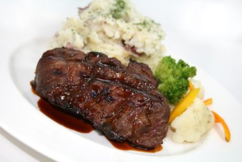 You'll get lots of protein from a 9-ounce steak, but you'll also get too much saturated fat.