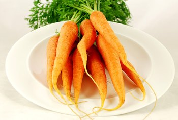 Carrots are a rich source of vitamin A.