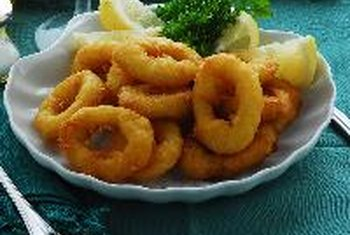 Fried calamari is high in fat and calories.