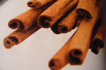 Ground cinnamon sticks produce cinnamon powder.