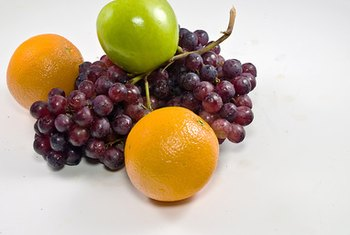 Apples, oranges and grapes are among the five most popular fruits in the United States.