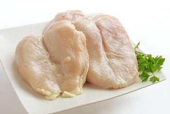 Chicken tenderloins are low in fat and carbohydrate-free.