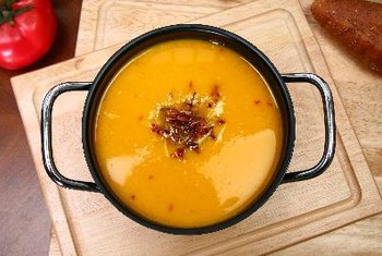 Butternut squash soup can be a healthy start to your meal.