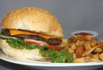 A fast-food lunch can contain an entire day's worth of saturated fat.