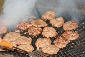 The fat content of ground beef patty varies depending on the type of meat.