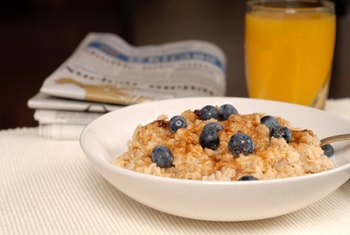 The carbohydrates in oatmeal help boost your brain power.