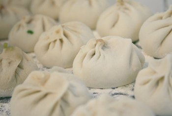 Many Chinese bakeries sell steamed buns filled with dried shredded pork.