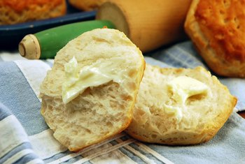 Buttermilk is a common ingredient in homemade biscuits.