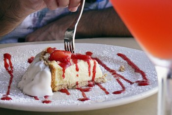 Restaurant desserts are usually full of sugar and saturated fat.