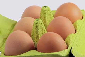 Boiled eggs are good sources of protein.