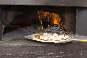 Brick ovens are an ideal choice for pizza baking.