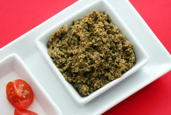 Pesto is full of nutrients, including healthy fats.