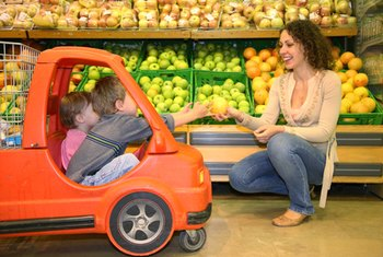 Encourage your toddler's healthy eating habits by filling your cart with fresh foods.