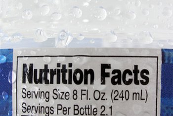 Nutrition facts labels provide all caloric and macronutrient information.