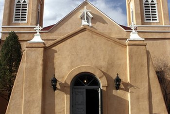 Churches are important feature in Mexican towns.