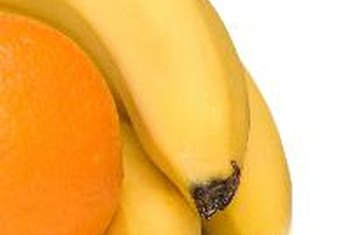 Bananas have more total carbohydrates than oranges.