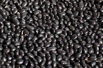 One cup of black beans contains 218 calories.