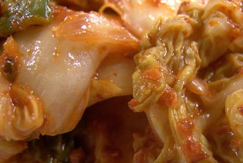 Kimchi derives its vitamin-K content from the cabbage used to make it.