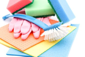 Use cleaning products that won't damage surfaces in your rental.