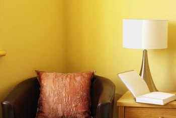 Mute A Bright Wall Color By Glazing It With Earth Tones