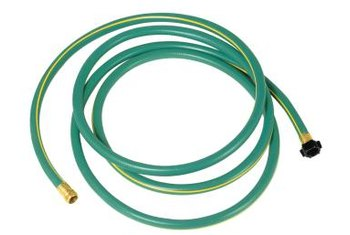 Empty water out of hoses and store them in a coil for a long-lasting product.