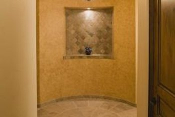A tiled entryway can enhance an architectural detail.