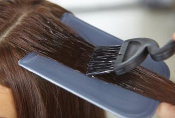 Hair colorant doesn't come off your hair -- or the floor -- easily.