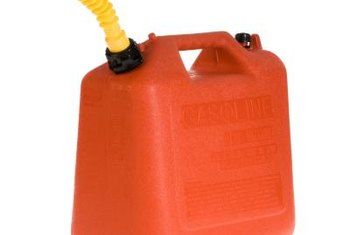 A plastic gas container for your mower fuel won't sweat and accumulate water.
