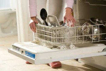 Remove the lower dishwasher spray arm to gain access to the parts beneath it.