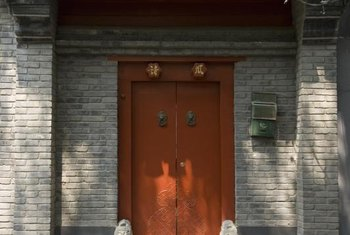 In ancient China, red doors were associated with the nobility.