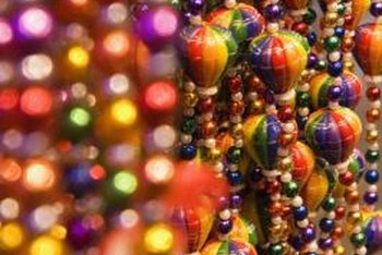 Beads and baubles add colorful embellishments to outdoor decor.