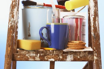 Gather all painting supplies and tools before painting your home.