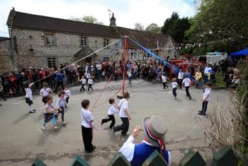 In many European countries, a maypole celebrates the arrival of spring.