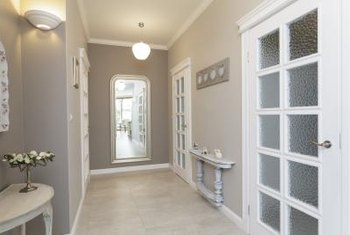 Tuscany Interior Paint Colors Look To A Neutral Palette As Used In This Hallway Tuscan Home