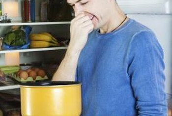 Remove foul foods before deodorizing the refrigerator.