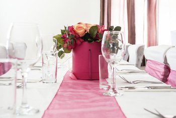 A Runner Adds A Touch Of Formal Decor To A Dining Table.