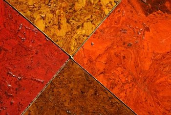 Cork flooring is available in a variety of colors.