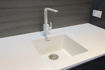 Corian counters allow for seamless integration options.