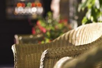 When properly cared for, wicker furniture can make a great addition to an outdoor sitting area.