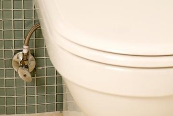 A toilet shutoff valve allows you to control the flow of water.