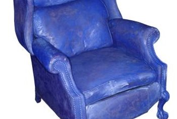 Change the color of a leather chair with a special leather dye.
