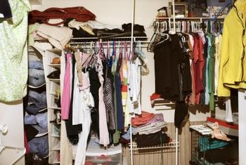 The starting point of many closet makeovers is a mess.