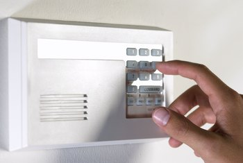 A flashing light on an alarm keypad could mean many things, from loss of electricity to a low battery.