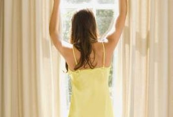Wire can hang curtains across wide banks of windows or across rooms.