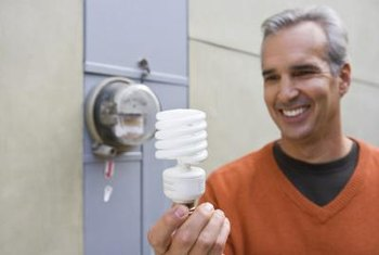 A CFL uses a third of the electricity of an incandescent bulb.
